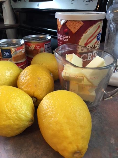 ingrediants - lemon pie